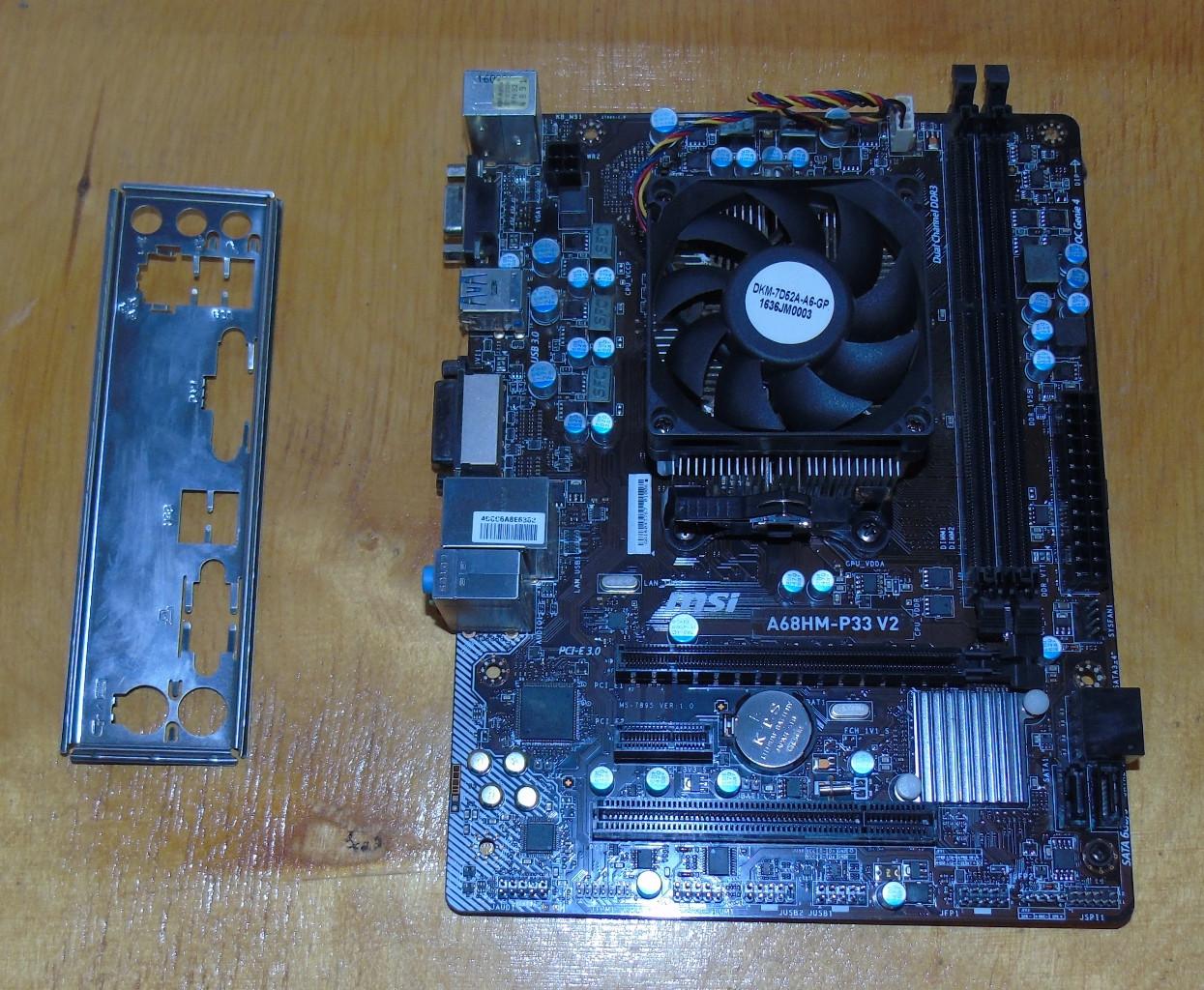 FM2+ Материнская плата MSI A68HM-P33 V2(MS-7895) + Процессор AMD Athlon X4 840