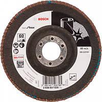 Лепестковый шлифкруг Bosch Best for Inox X581 125×22,23 мм К60