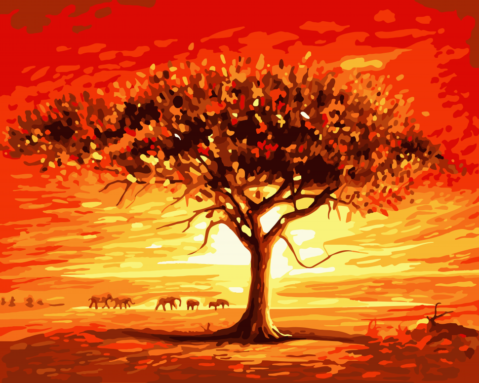 """Картина по номерам Art Craft """"Золотое солнце Африки"""" 40*50 см 10507-AC"""