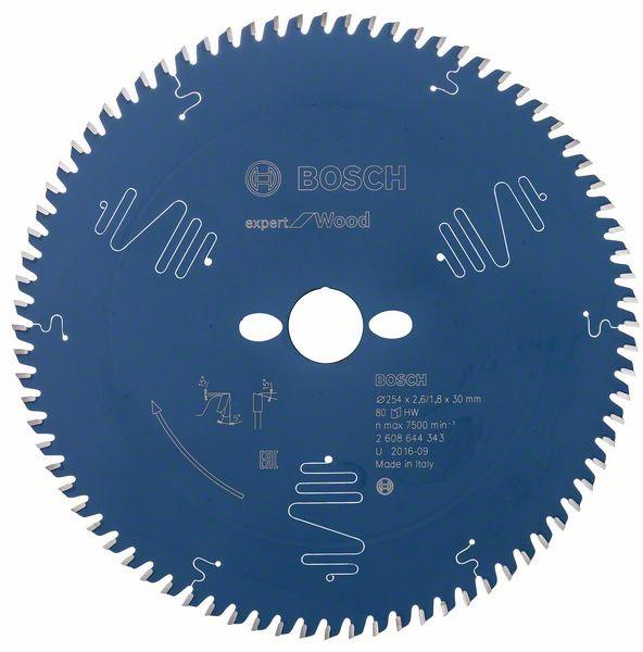 Пильный диск Bosch Expert for Wood 254x30x2.6/1.8x80 T