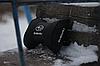 Автомобильная подушка подголовник  с маркой авто Subaru чёрная, фото 2