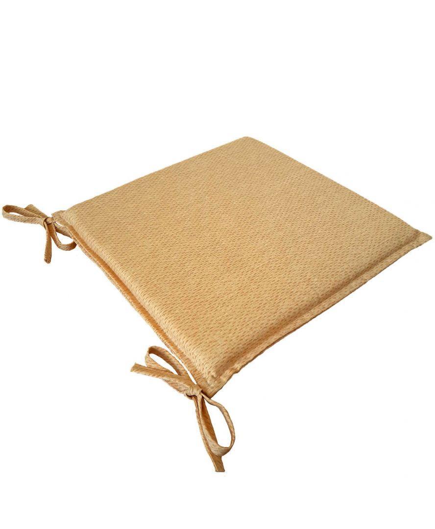 Подушка на стул Элит Желтая