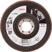 Лепестковый шлифкруг Bosch Best for Inox X581 125х22,23 мм К40