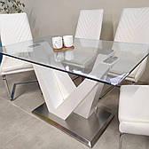 Стіл обідній зі скляною стільницею Лоренц Sof