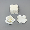 Комплект заготовок для цветов 9 Х 9 см S 2мм белый