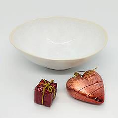 Білий салатник керамічний професійний посуд для кафе ресторанів і вдома 19,5х6,5 см