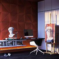 Декоративный рельефные 3д панели из гипса ШТРИХ
