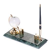 Подставка с часами под две ручки настольная BST 540043 24х10 мраморная