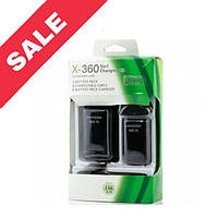 XBOX 360 Slim Batteray pack / 1 батарея в коплекті, USB кабель, чорний.