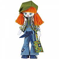 Набор для шитья куклы на льняной основе. Текстильная кукла Модница Kukla Nova К1004