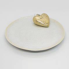 Кругла біла тарілка керамічна професійний посуд для кафе ресторанів і вдома 20,5х2,5 см