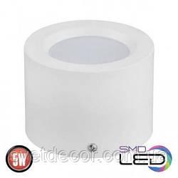 Светодиодный светильник накладной точечный цилиндр Horoz Electric Sandra-5 5W 4200К белый