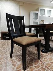 Стол обеденный деревянный Дрезден Sof, цвет орех + черный матовый, фото 3