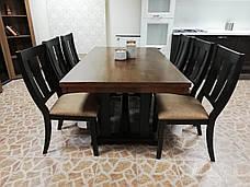 Стол обеденный деревянный Дрезден Sof, цвет орех + черный матовый, фото 2