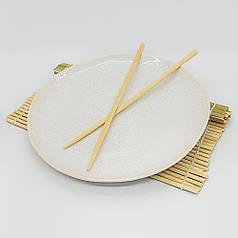 Керамічна біла тарілка кругла посуд для кафе ресторанів і вдома 27,5х3 см