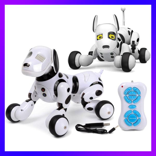 Собака-робот Zoomer 9007A Интерактивная игрушка Собачка на радиоуправлении Зумер 9007А со Светом и Звуком