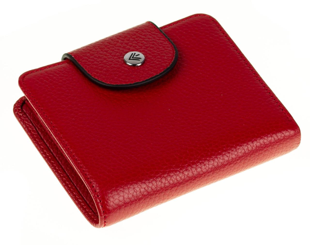 Маленький женский кошелек Eminsa 2154-18-5 кожаный красный
