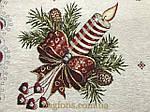 Скатерть новогодняя испанский гобелен Свеча (150х220 см.), фото 2