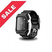Браслет металевий + рамка для Apple watch 42 mm Black