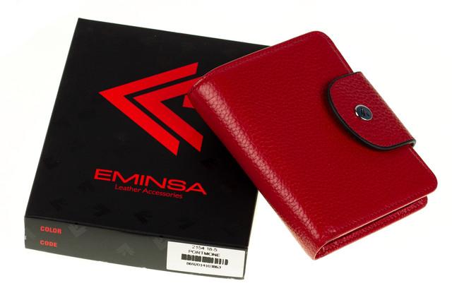 Женский кошелекEminsa 2154-18-5 кожаный красный