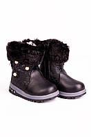 Ботинки детские черные 6057