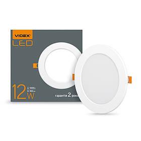 293967 LED cвітильник VIDEX 12W 5000K 220V круглий сенсорний