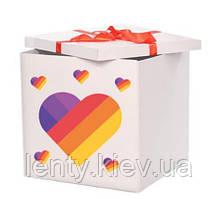 Коробка-сюрприз большая 70х70см с наклейками (Лайки / Likee) + декор