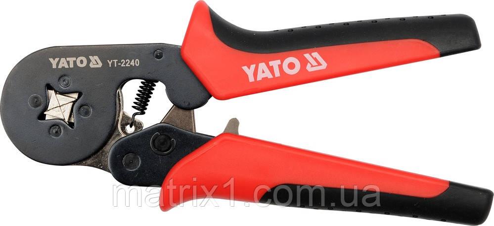 Клещи для для опрессовки коннекторов с муфтами  YATO 180 мм  YT-2240