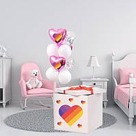 "Коробка-сюрприз 70х70см с Гелиевыми шарами в тематике ""Лайки / Likee"""