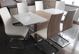 Стол обеденный в современном стиле Бергамо   Sof, цвет белый + сонома