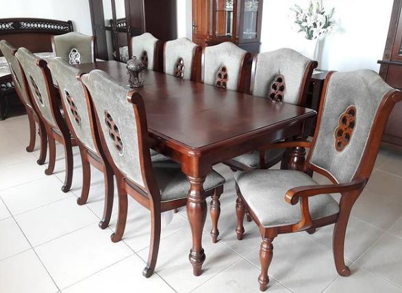 Большой обеденный стол  в классическом стиле Оксфорд Sof, цвет вишня
