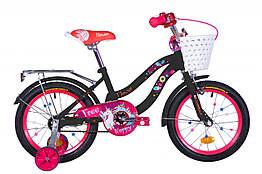"""Велосипед 16"""" Formula FLOWER 2020 (черный с розовым)"""