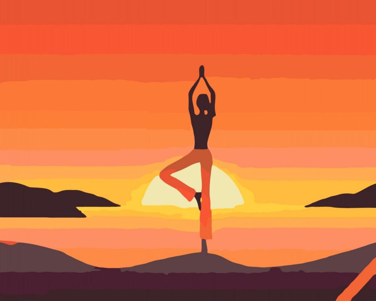 Картина по номерам Асана йоги медитация 40 х 50 см, BrushMe (GX34817)