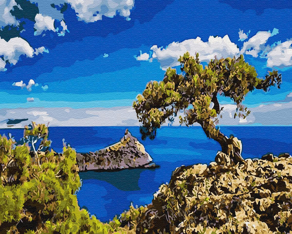 Картина по номерам Кипр побережье 40х50 см, BrushMe (GX30162)