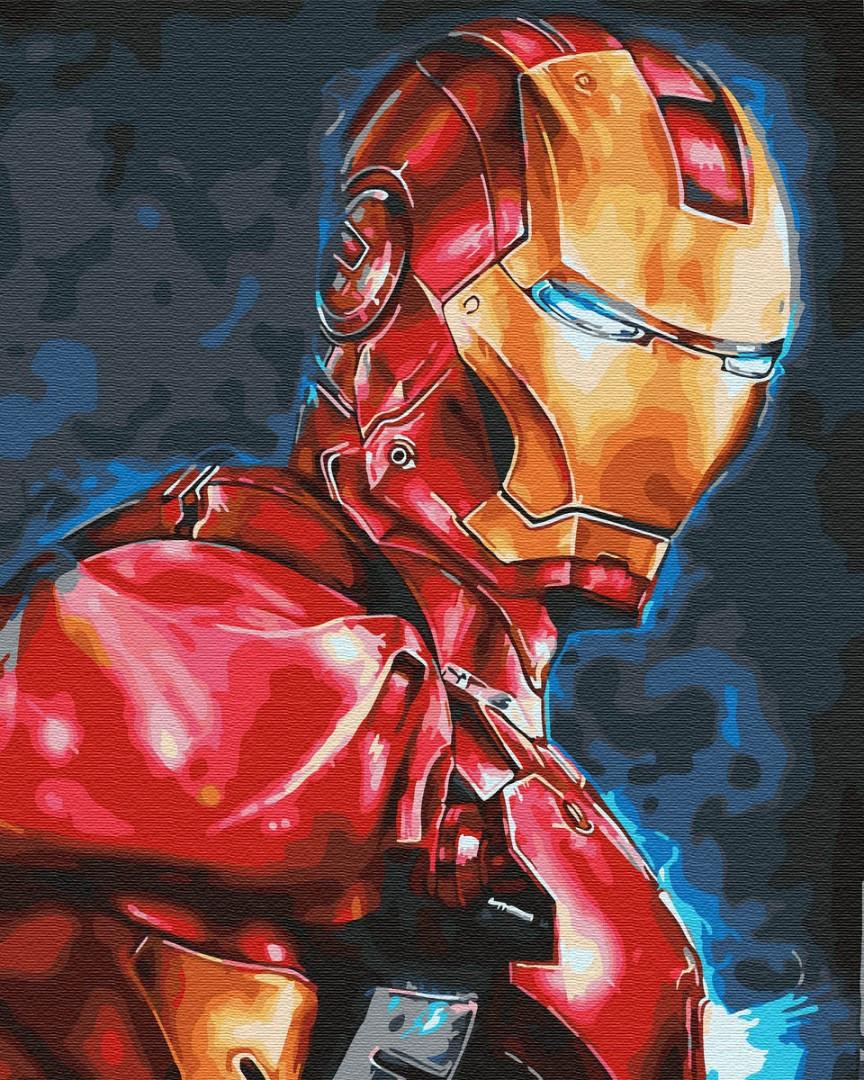 Картина по номерам Мстители Железный человек Тони Старк 40х50 см, BrushMe (GX30164)