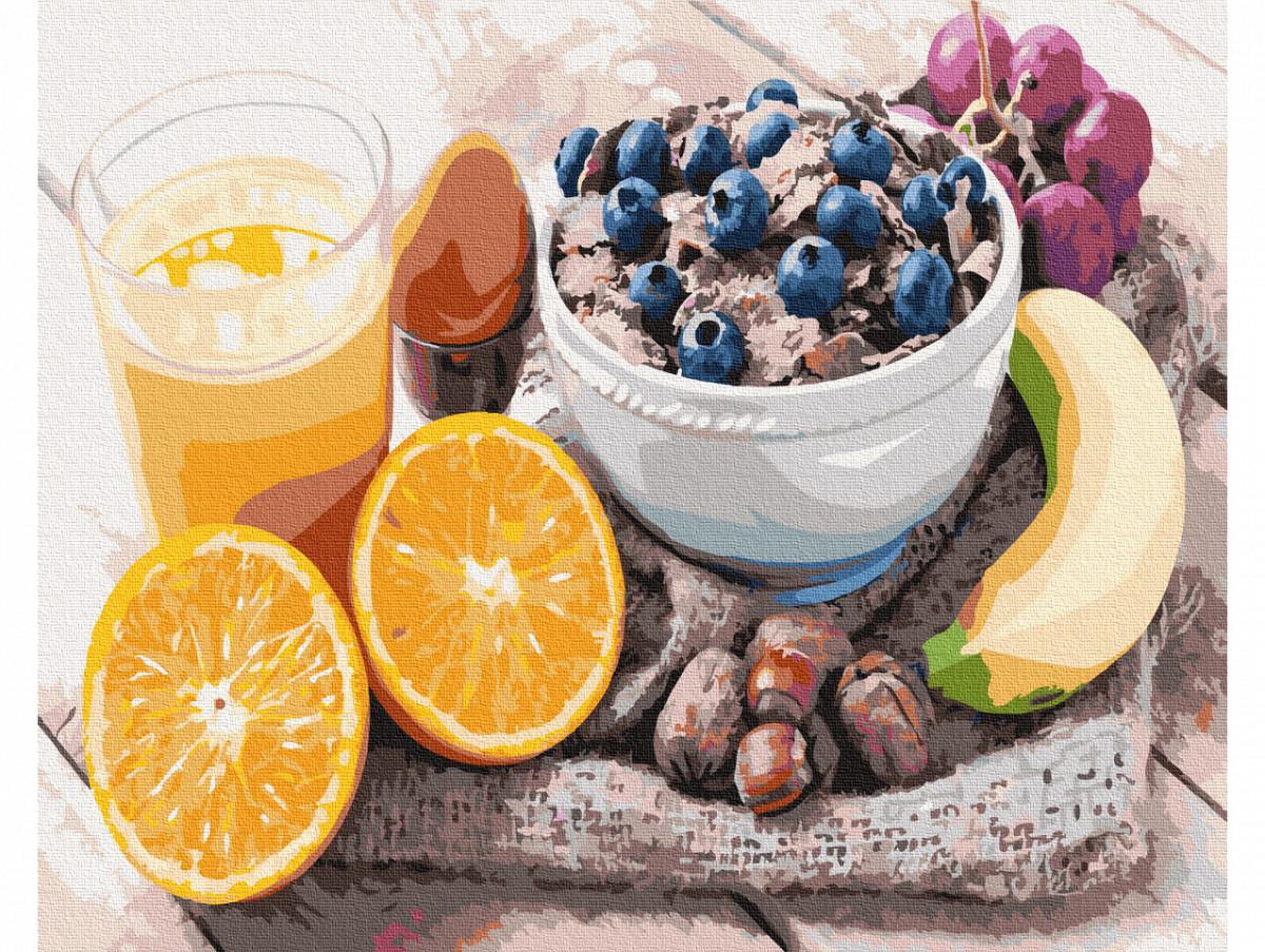 Картина по номерам Полезный завтрак 40х50 см, BrushMe (GX34872)