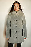 Пальто ТМ ALL POSA Карли серый 54 (100275), фото 2