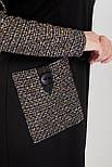 Сукня ТМ ALL POSA Імперіал чорний 52 (100429) 54, фото 4