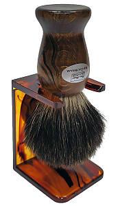 Помазок для бритья барсук Hans Baier 51181-1 на подставке Коричневый