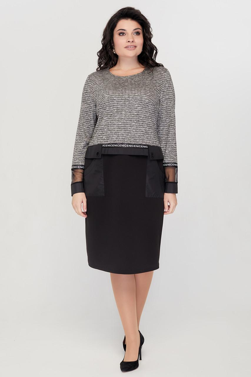 Сукня ТМ ALL POSA Стефані чорний 50 (100432)