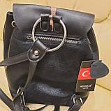 Женский кожаный рюкзак Эйфелевая башня, фото 8