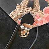 Женский кожаный рюкзак Эйфелевая башня, фото 9