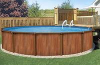 Сборно щитовой бассейн Esprit - Wood круг: 5,49Х1,32м.