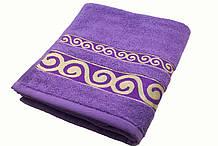 Полотенце махровое 50х90 хлопковое фиолетовый SKL53-239700