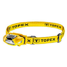 Фонарик головной 70 люменов, батарейки 1xAA TOPEX 94W390