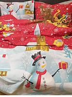 Шикарное новогоднее постельное белье, ранфорс, Турция