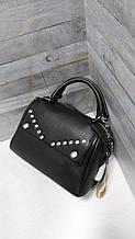Стильна жіноча сумка чорна (3197)