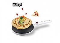 Сковородка-блинница электрическая с антипригарным покрытием DSP KC3016, Белая