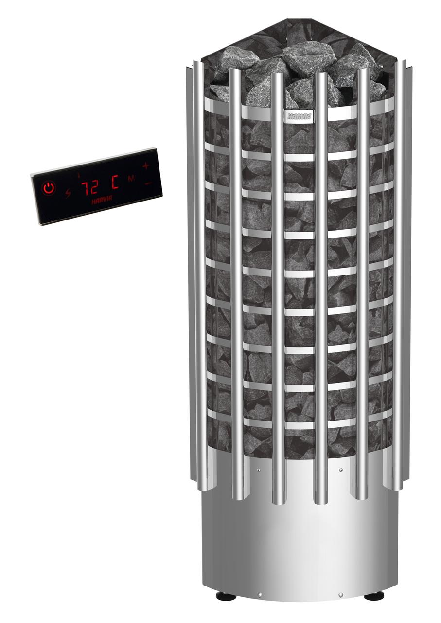 Електрокаменка Harvia Kivi PI70, 6.9 кВт вага каменів 100 кг парна 10 м. куб з пультом