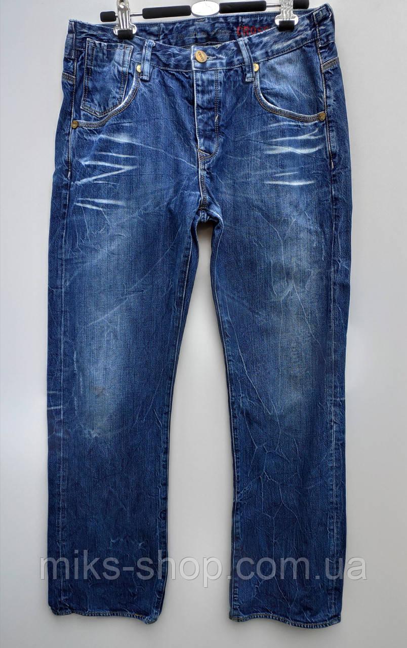 Чоловічі зимові прямі джинси розмір наш 50 ( у-109)